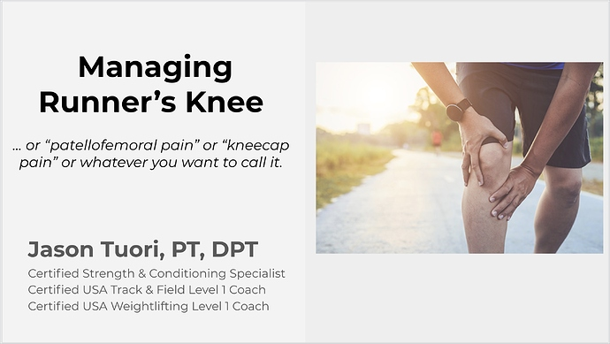 FLRC-Presents-Dealing-with-Runners-Knee